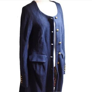Free People for Anthropologie Small Blue Coat